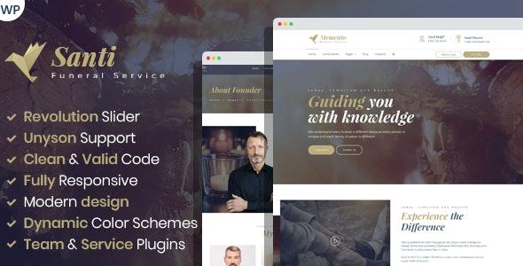 Santi -  Funeral Home WordPress Theme - Business Corporate