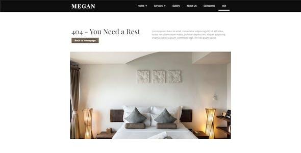 Megan - Hotel Booking Template Kit