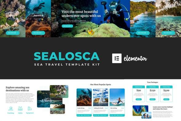 Sealosca - Sea Adventure Travel Template Kit - Travel & Accomodation Elementor