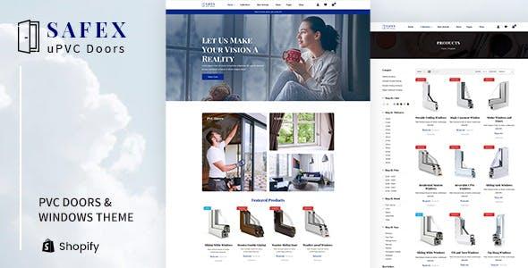 Safex - Hardware Shop, UPVC Furniture Shopify Theme