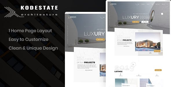 Kodestate - Architecture PSD Template