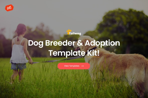 Tailwag - Dog Breeder & Adoption Template Kit - Business & Services Elementor