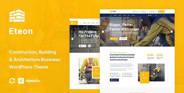 Eteon - Construction And Building WordPress Theme - Business Corporate