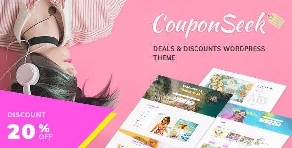 CouponSeek - Deals & Discounts WordPress Theme - Directory & Listings Corporate