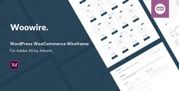 Woowire - WordPress WooCommerce Wireframe for Adobe XD