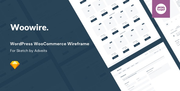 Woowire - WordPress WooCommerce Wireframe for Sketch - Creative Sketch