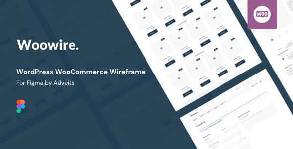 Woowire - WordPress WooCommerce Wireframe for Figma - Figma UI Templates