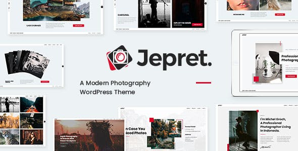 Download Jepret | Modern Photography WordPress Theme