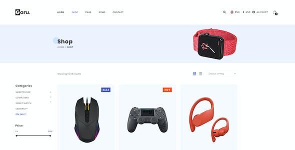 Goru – Electronics eCommerce HTML5 Template