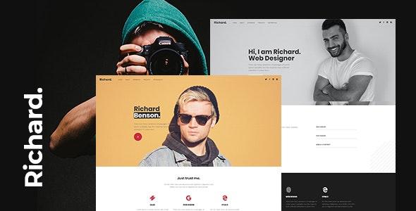 Richard - Onepage Personal WordPress Theme - Personal Blog / Magazine