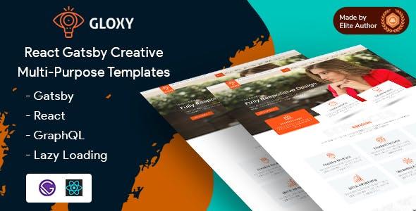Download Gloxy - Gatsby React Multi-Purpose Template