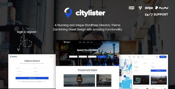 CityLister - Local Listings & Directory WordPress Theme