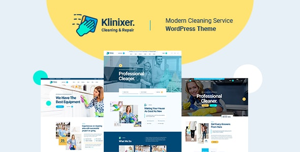 Klinixer v1.0.1 – Cleaning Services WordPress Theme + RTL