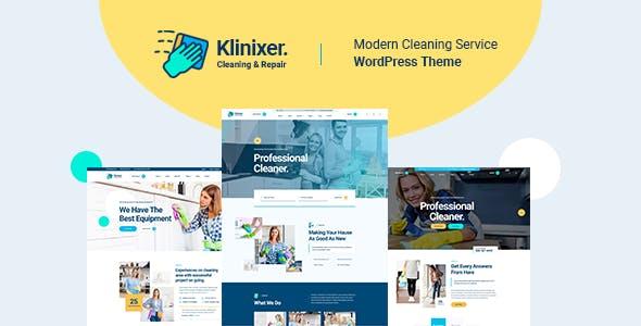 Download Klinixer - Cleaning Services WordPress Theme + RTL