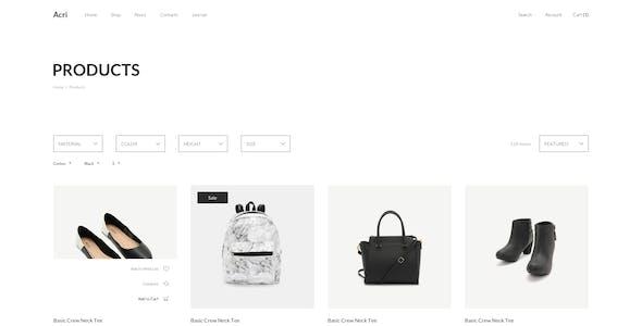 Acri - Fashion & Clothing eCommerce Figma Template