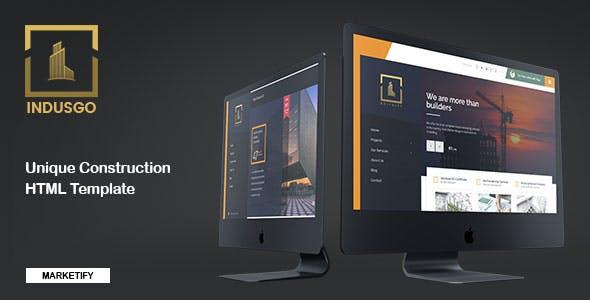 Download IndusGo - Construction HTML Template