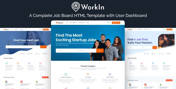 Download WorkIn - Job Board & Recruiting Services Marketplace HTML Template