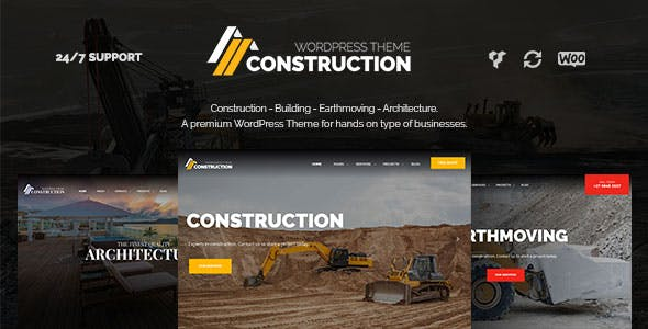Construction – Building & Architecture WordPress Theme