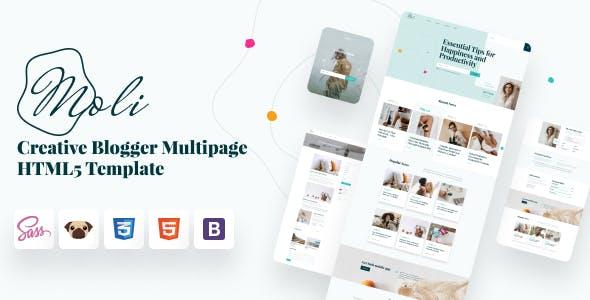Moli - Personal Blog HTML 5 Template
