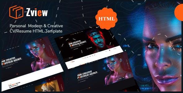 Download Zview - Personal Modern & Creative CV/Resume HTML Template