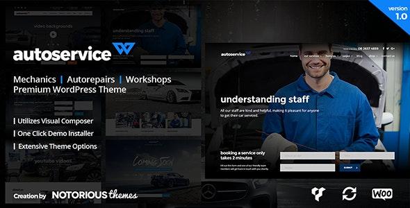AutoService - Mechanic & Car Repairs WordPress Theme - Business Corporate