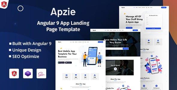 Download Apzie - Angular 9 App Landing Page Template
