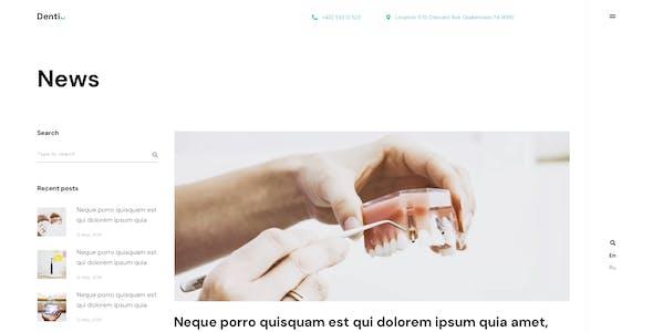 Denti - Landing page Adobe XD Template