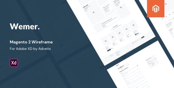 Wemer - Magento 2 Wireframe for Adobe XD