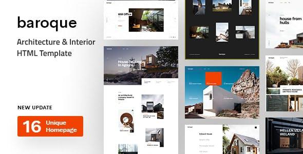 Baroque - Architecture & Interior HTML Template