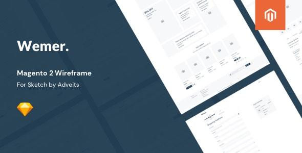 Wemer - Magento 2 Wireframe for Sketch - Creative Sketch