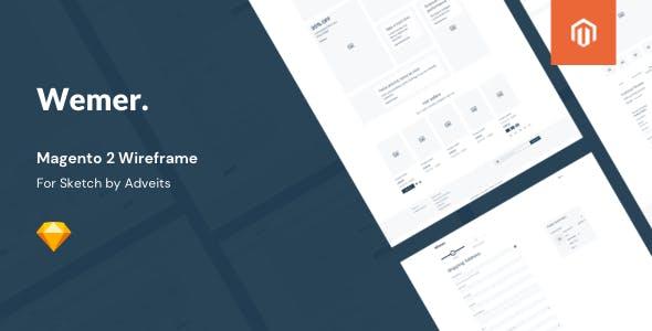 Wemer - Magento 2 Wireframe for Sketch