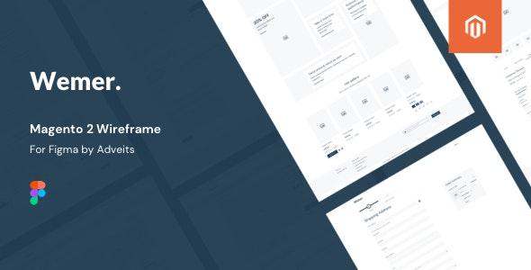 Wemer - Magento 2 Wireframe for Figma - Figma UI Templates