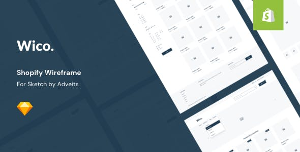 Wico - Shopify Wireframe for Sketch