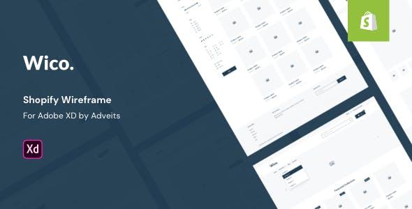 Wico - Shopify Wireframe for Adobe XD