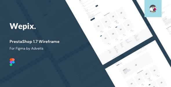 Wepix - PrestaShop 1.7 Wireframe for Figma - Figma UI Templates
