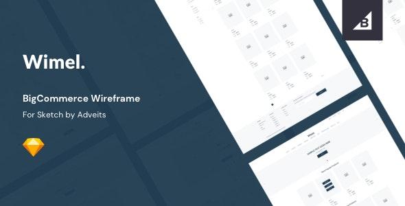 Wimel - BigCommerce Wireframe for Sketch - Creative Sketch