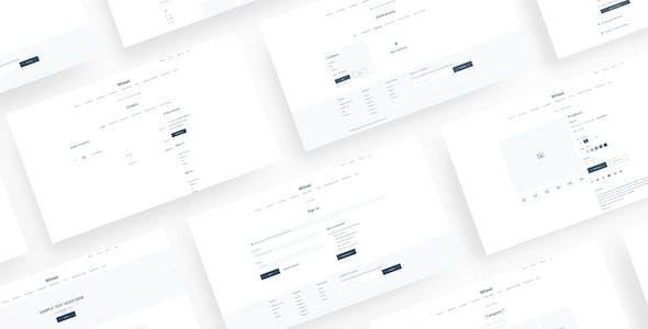 Wimel - BigCommerce Wireframe for Sketch