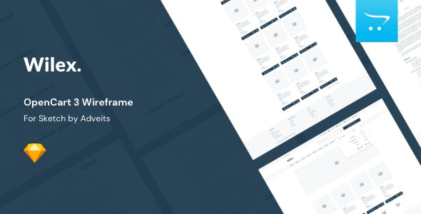 Wilex - OpenCart 3 Wireframe for Sketch