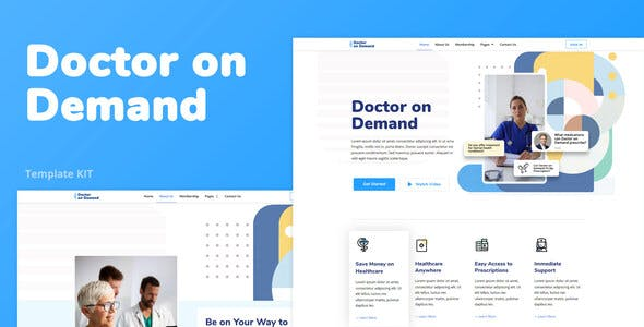 Doctor on Demand – Online Consultations Elementor Template Kit