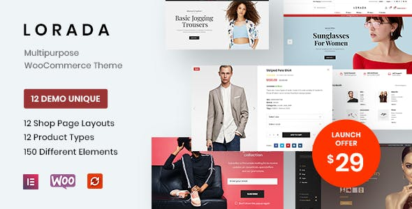 Download Lorada - Responsive Elementor eCommerce Theme