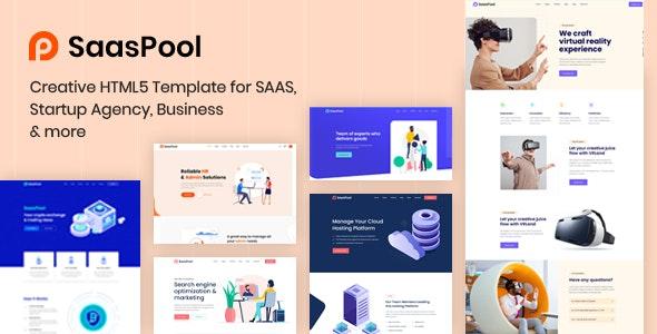 SaasPool - Saas, Startup & Agency HTML5 Template - Technology Site Templates