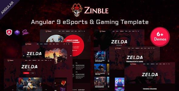 Download Zinble - Angular 9 eSports & Gaming Template
