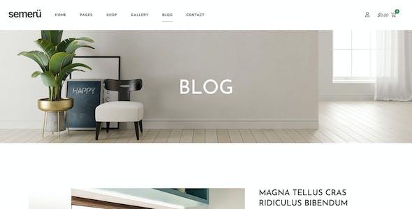 Semeru - Furniture WooCommerce Elementor Template Kit