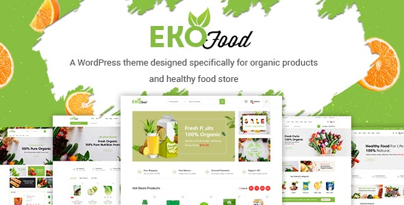 EkoFood - Organic and Food Store Theme - WooCommerce eCommerce