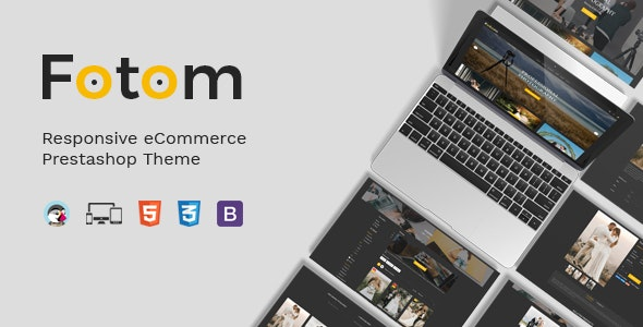 Fotom - Photography Responsive Prestashop Theme - Entertainment PrestaShop