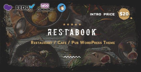 Download Restabook - Restaurant / Cafe / Pub   WordPress Theme