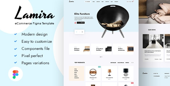 Lamira - eCommerce Figma Template - Business Corporate