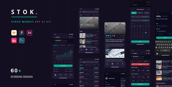 Stok - Stock Market App UI Kit
