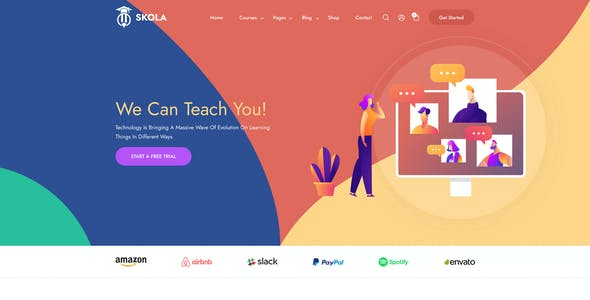 Skola - LMS Online Education Course & School Figma Template