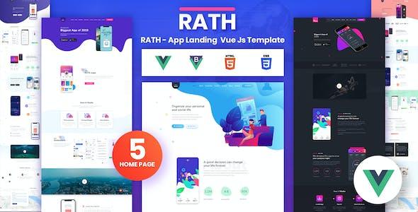 RATH - App Landing Onepage Vue Js Template